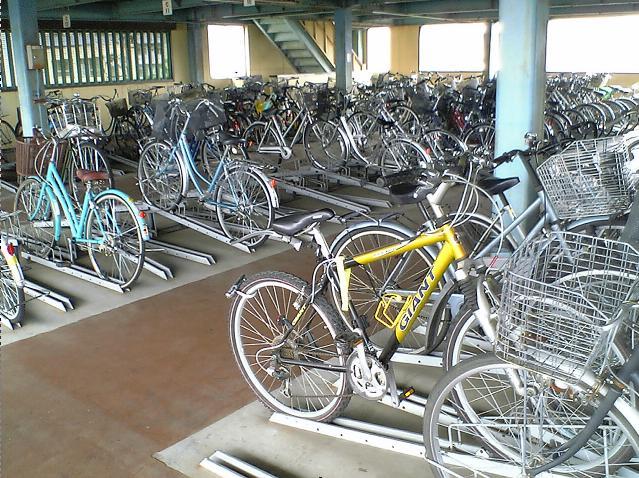 本的自行车停车场