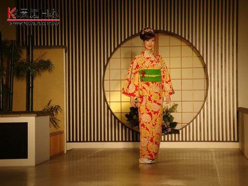 格调,行游,日本,和服秀