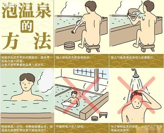 洗温泉卡通图片