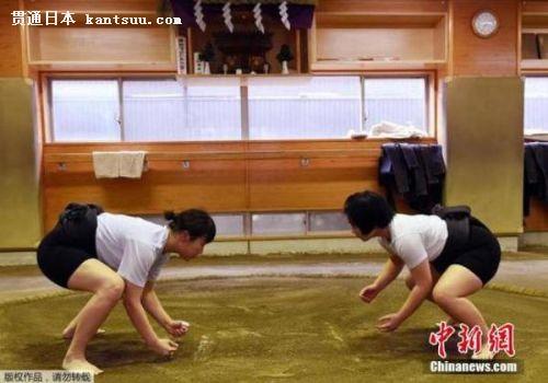 日本女相扑手:无需个头高大 不用裸身上阵