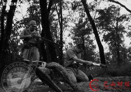 日本兵剖腹自杀全过程