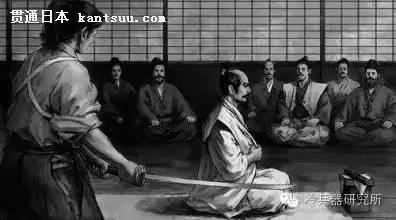 会有另外一名武士站在他身后,在他执行剖腹之后,迅速用一把利剑砍下他