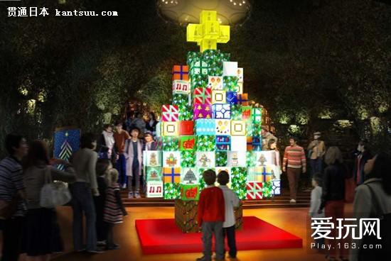 一树的方块 我的世界风格圣诞树亮相日本