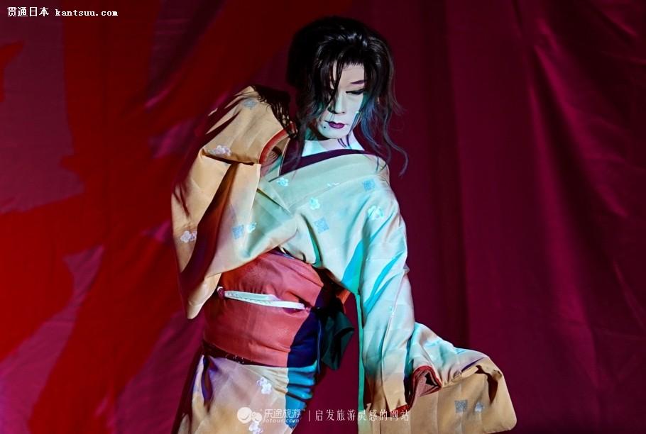 日本一家温泉室内表演 艺伎竟然是男人!