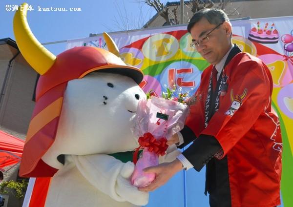"""日本地方吉祥物""""彦根喵""""迎来13岁生日(图片来源:朝日新闻网站)"""